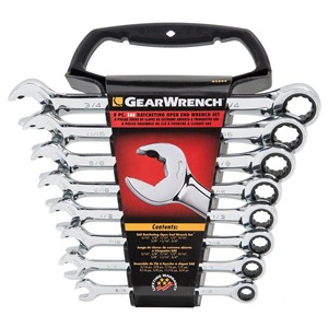 GearWrench sett Tommer 5/16 - 3/4 m/Holder